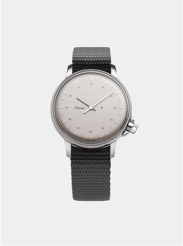 Silver / Grey Nylon M12 Swiss Watch