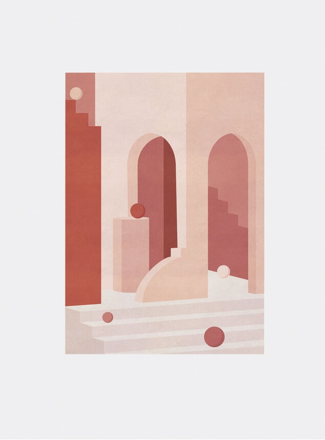 House With Spheres Print