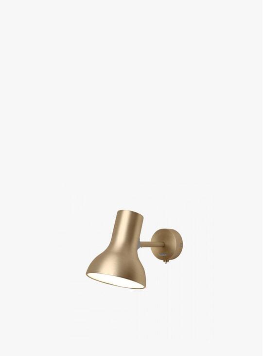 Gold Lustre Type 75 Mini Metallic Wall Light
