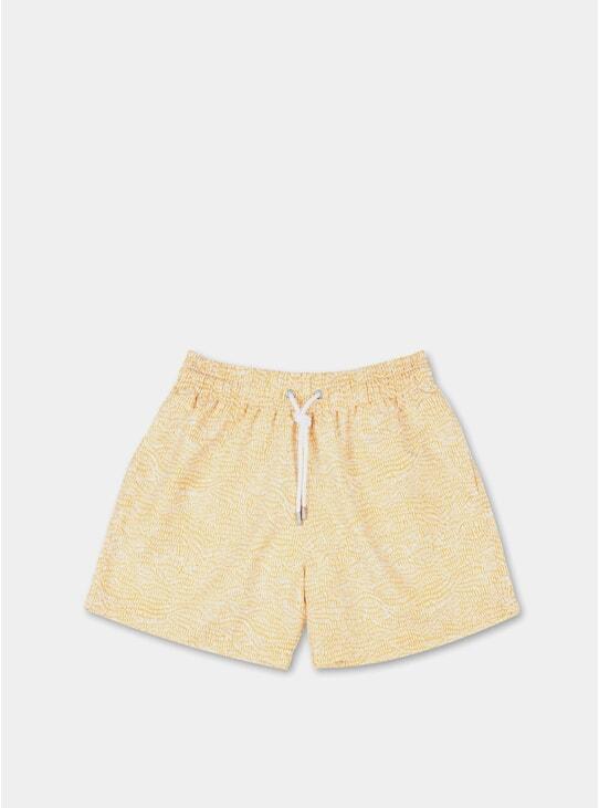 Mustard Yellow Escailles Swim Shorts
