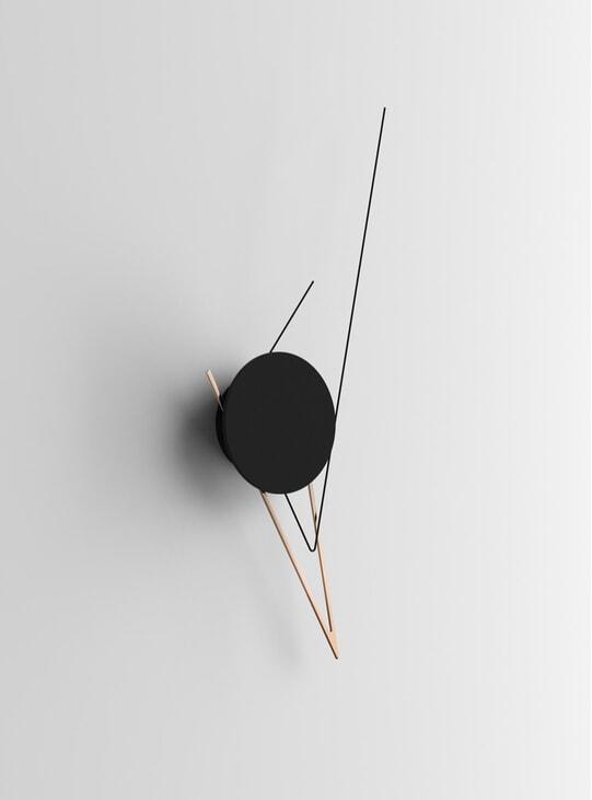 Copper Silo Wall Clock