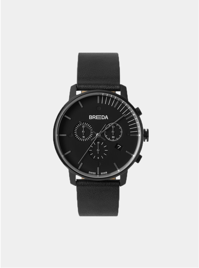 Black / Black Phase Chronograph Watch