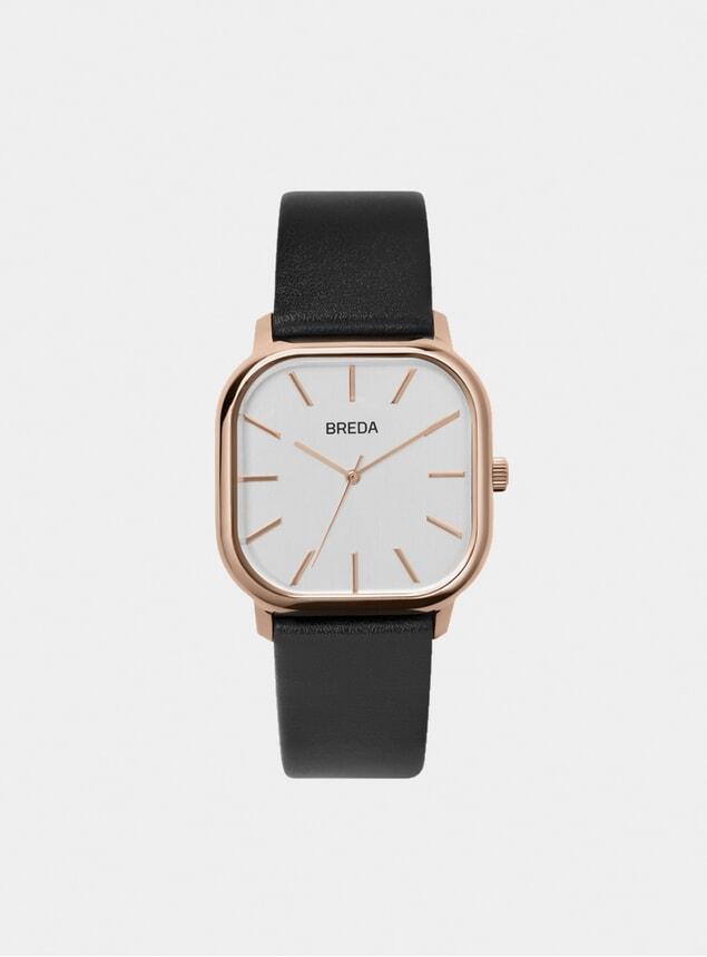 Rose Gold / Black Visser Watch