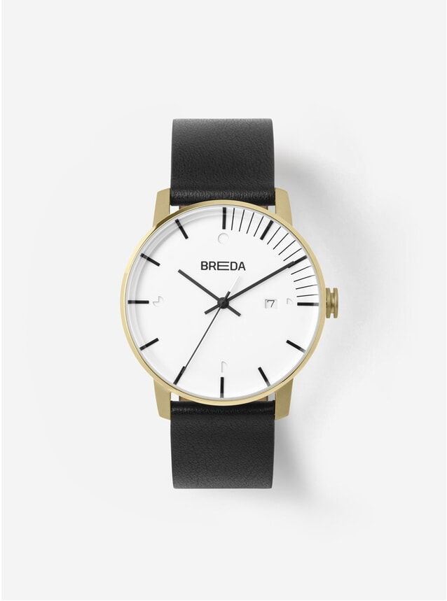 Gold Black Phase Watch