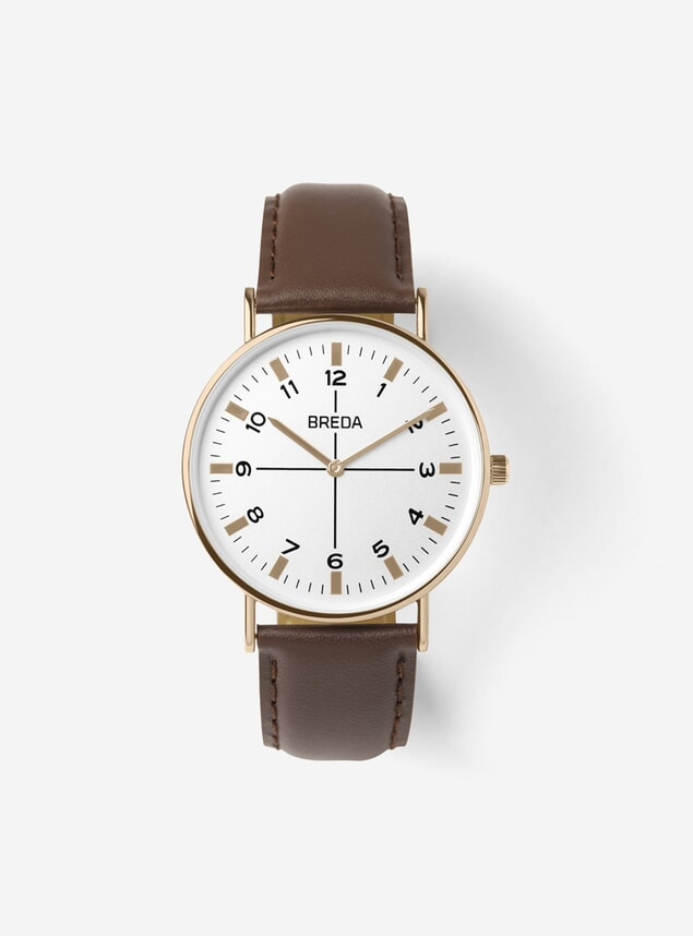 Rose Gold / Brown Belmont Watch
