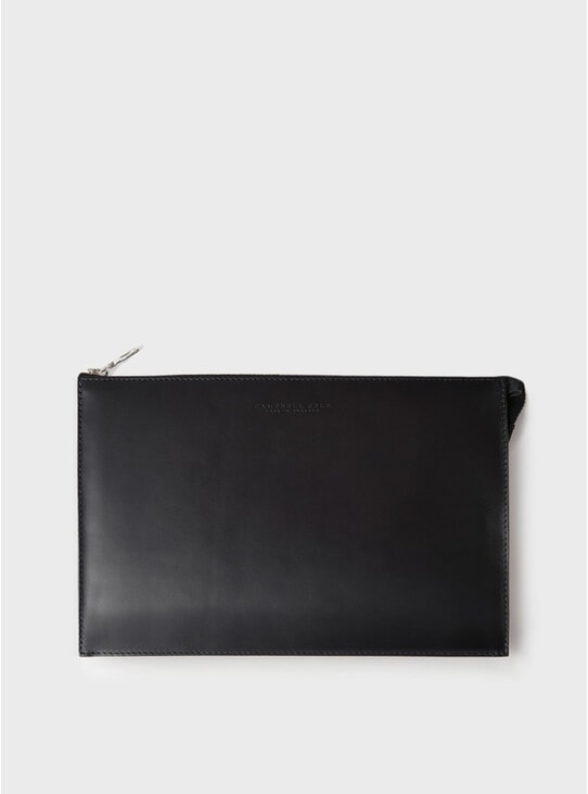 Black Simple A5 Pouch