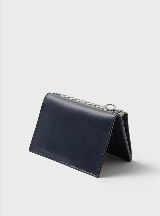 Navy Simple Slim Wallet