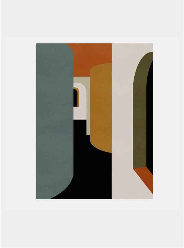 Coloured Corridor Print