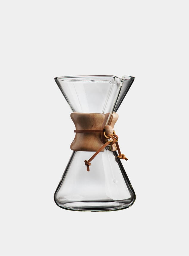 8 Cup Glass Handblown Drip Coffee Maker