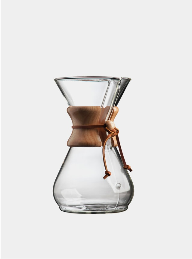 Classic Cup Wooden Collar 8 Drip Coffee Maker