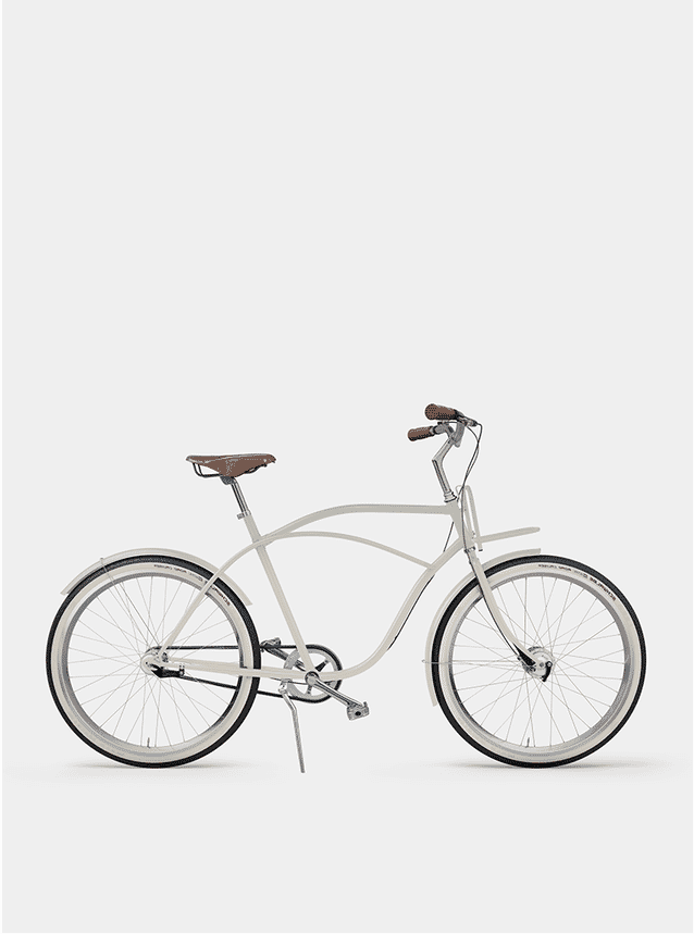 Creamy Beige Beach Cruiser Bicycle