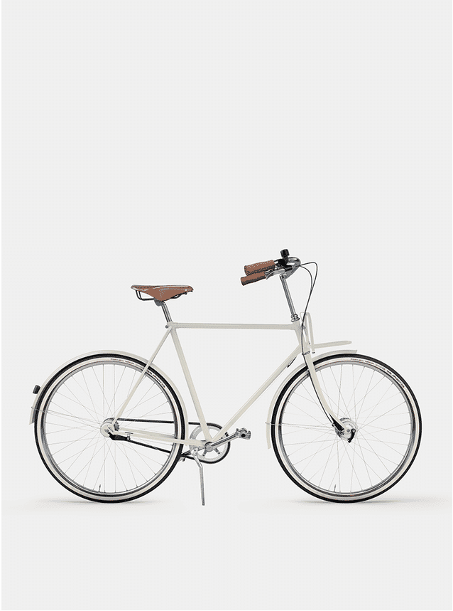 Creamy Beige City Cruiser Bicycle