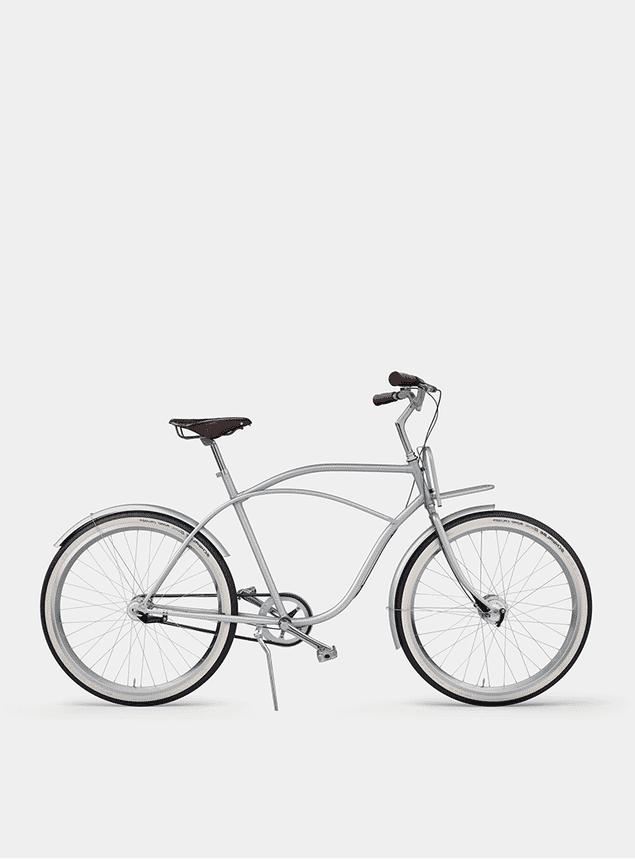 Metallic Grey  Beach Cruiser Bicycle