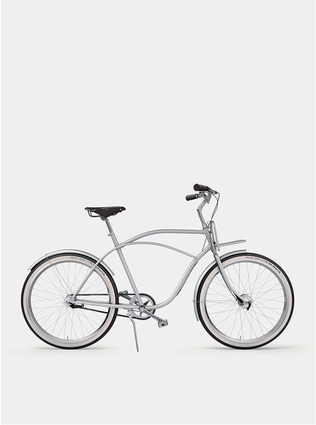 Metallic Grey  Beach Cruiser Bicycle