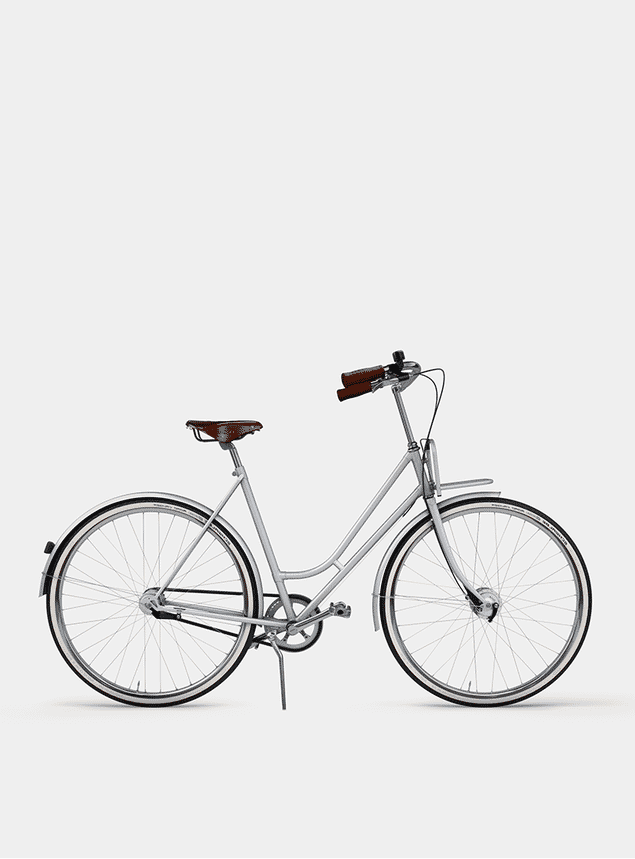 Metallic Grey Lady Cruiser Bicycle