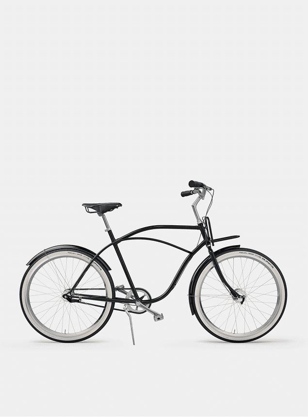 Pure Black  Beach Cruiser Bicycle