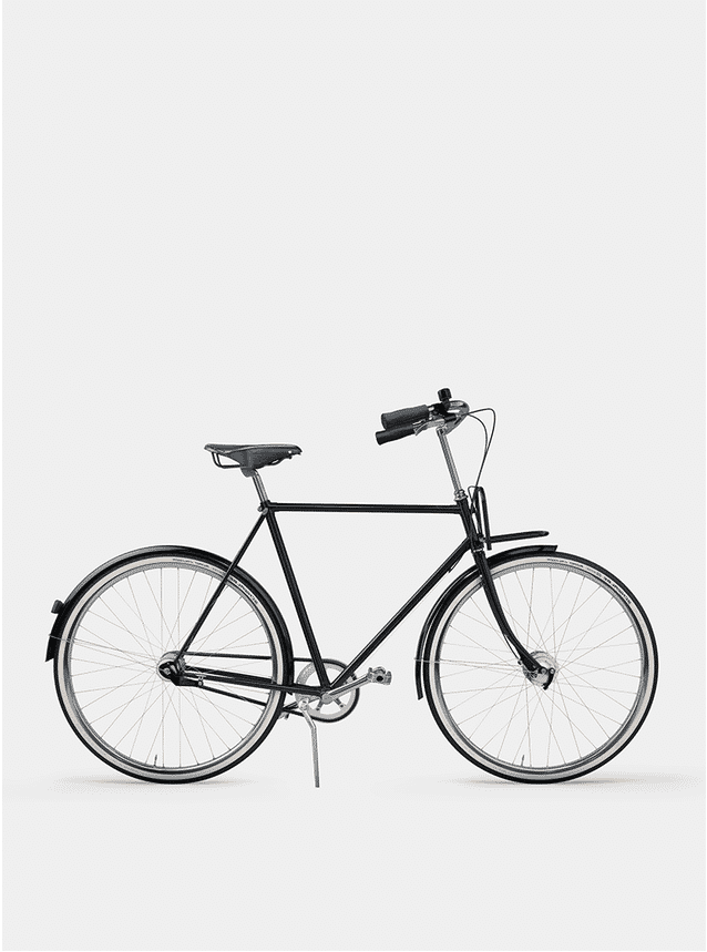 Pure Black City Cruiser Bicycle