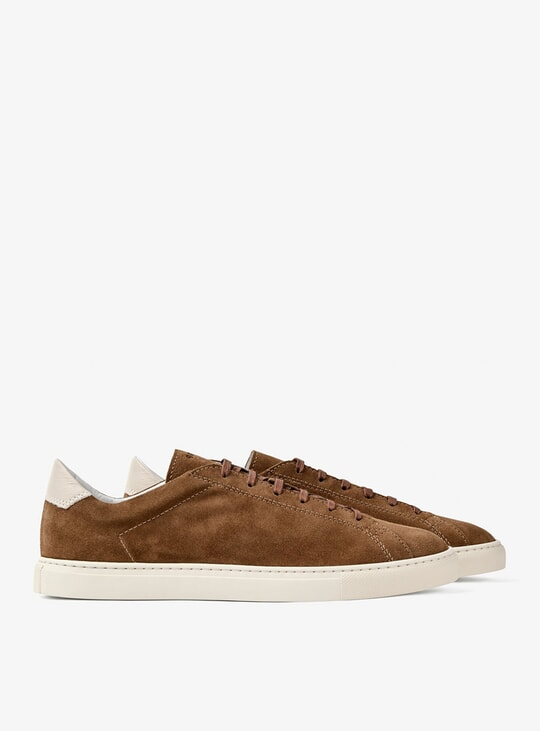 Snuff Brown Racquet Sneakers