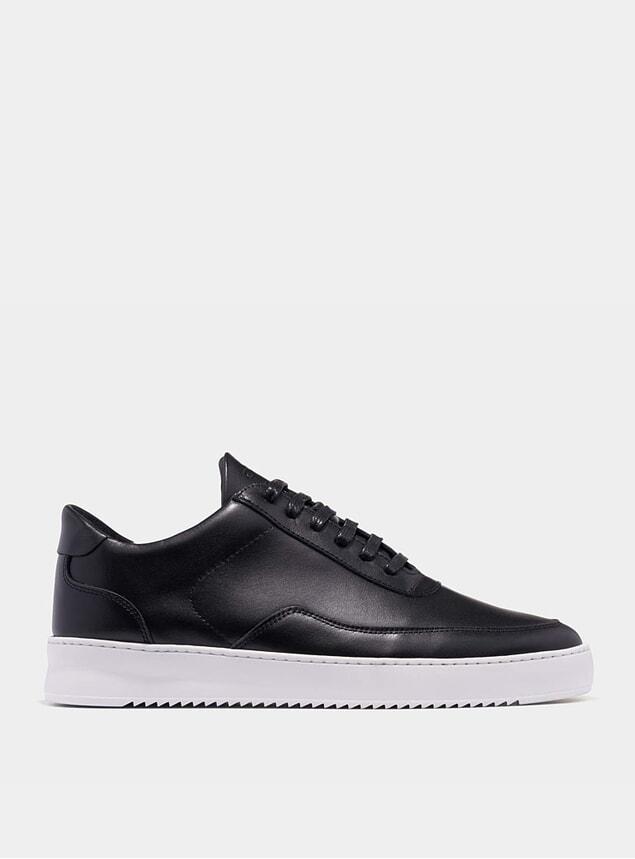 Black Low Mondo Ripple Matt Nappa Sneakers
