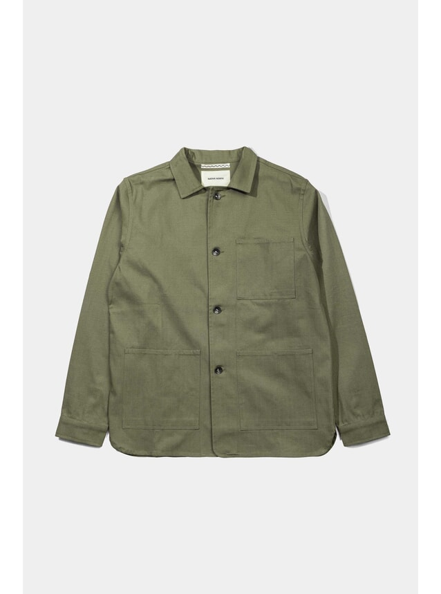 Herringbone Utility Jacket (Green)