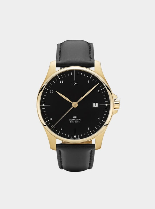 Gold / Black 1971 Automatic Watch