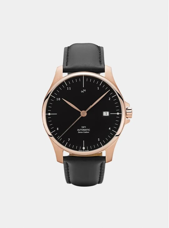Rose Gold / Black 1971 Automatic Watch