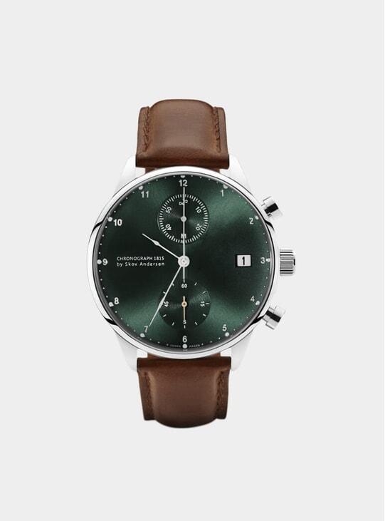 Green / Steel 1815 Chronograph Watch