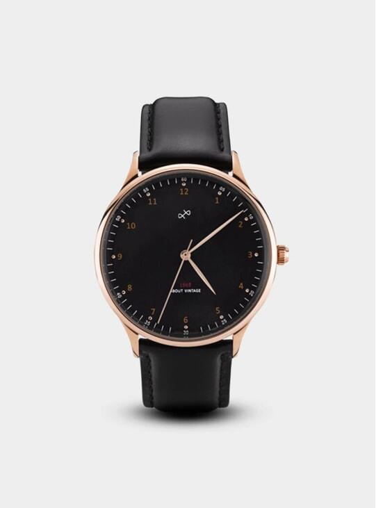 Rose Gold / Black Vintage 1969 Watch