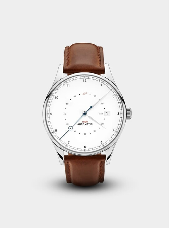 Steel / White 1820 Automatic Watch