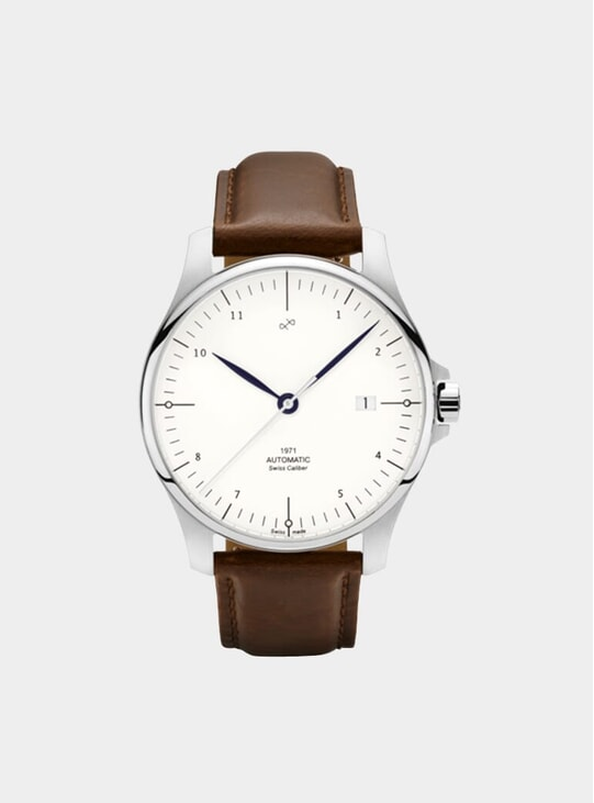 Steel / White 1971 Automatic Watch