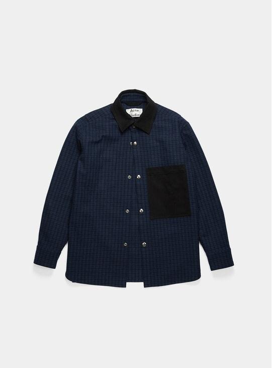 Navy / Black Vichy-Check Chore Jacket Shirt