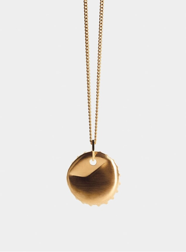 Gold Bottle Top Pendant