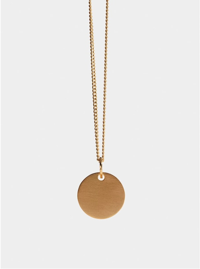 Gold Disc Pendant