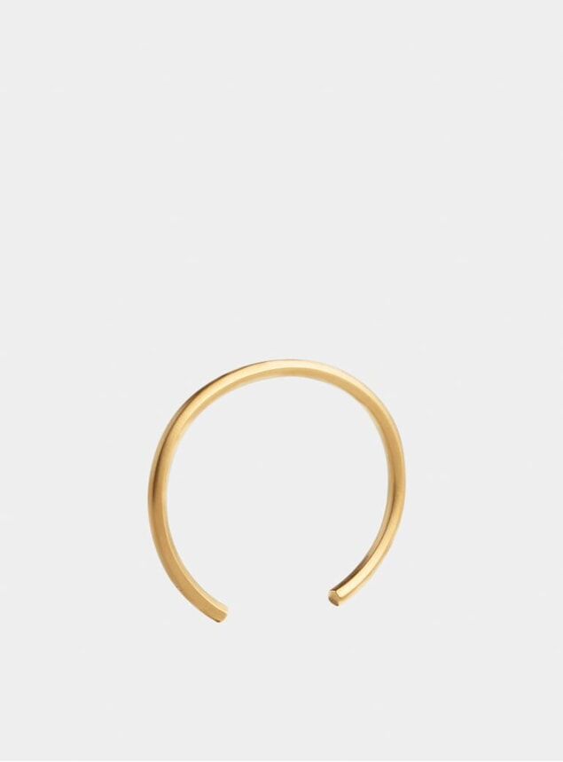 Gold Hexagon Cuff