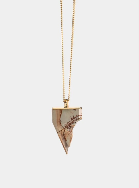 Gold & Jasper Bear Claw Pendant