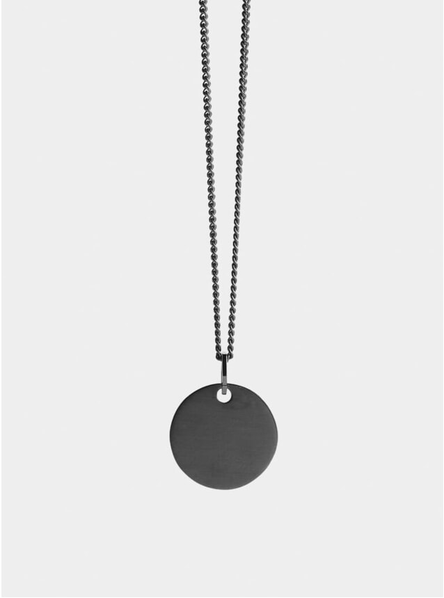 Ruthenium Disc Pendant