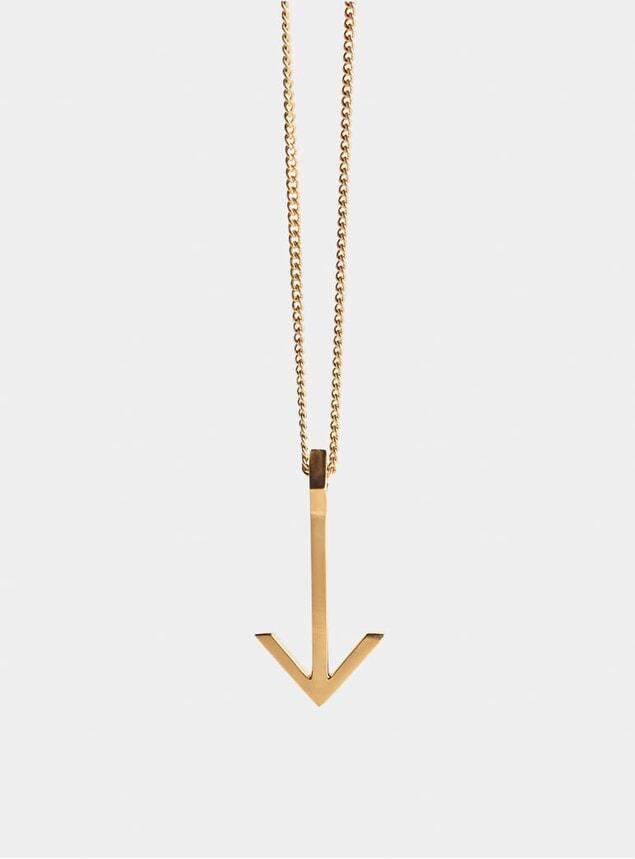Gold Arrow Pendant