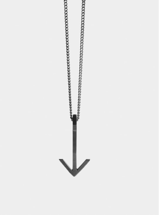 Ruthenium Arrow Pendant