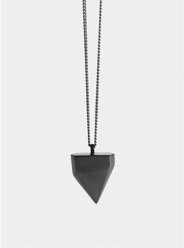 Ruthenium Shark Tooth Pendant