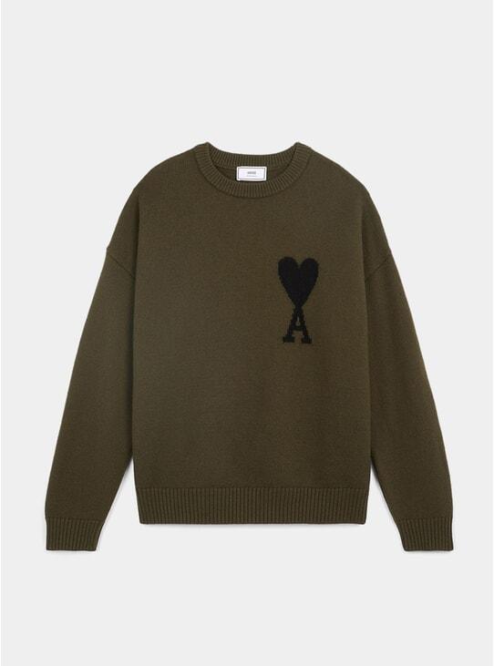 Dark Olive Green Ami de Coeur Oversized Sweatshirt