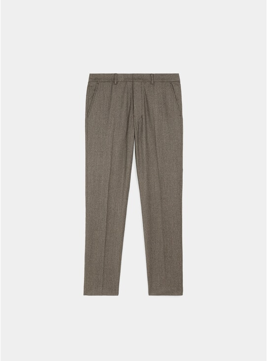 Light Brown Cigarette Fit Trousers