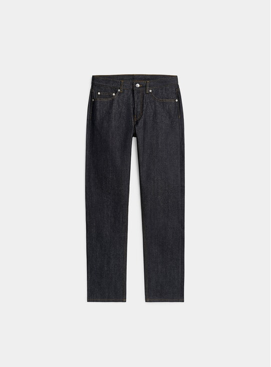 Dark Blue Regular Raw Selvedge Jeans