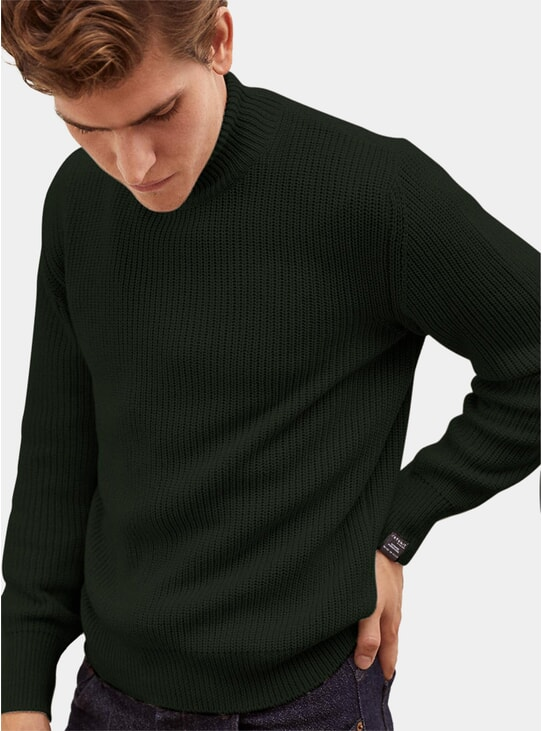 Jungle High-neck Cashmere Sweater