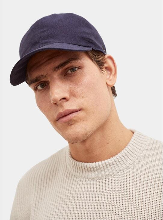 Navy Sartorial Linen Hat