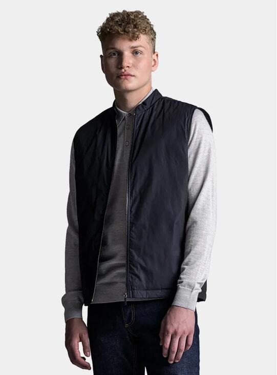 Matte Black Zip Vest