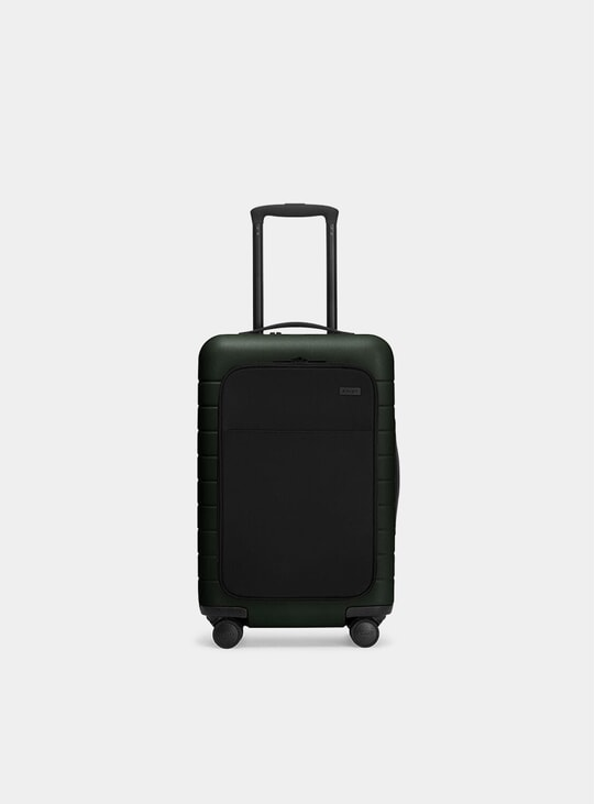 Green Carry-On w/ Pocket Suitcase