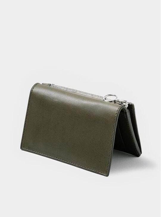 Khaki Simple Slim Wallet