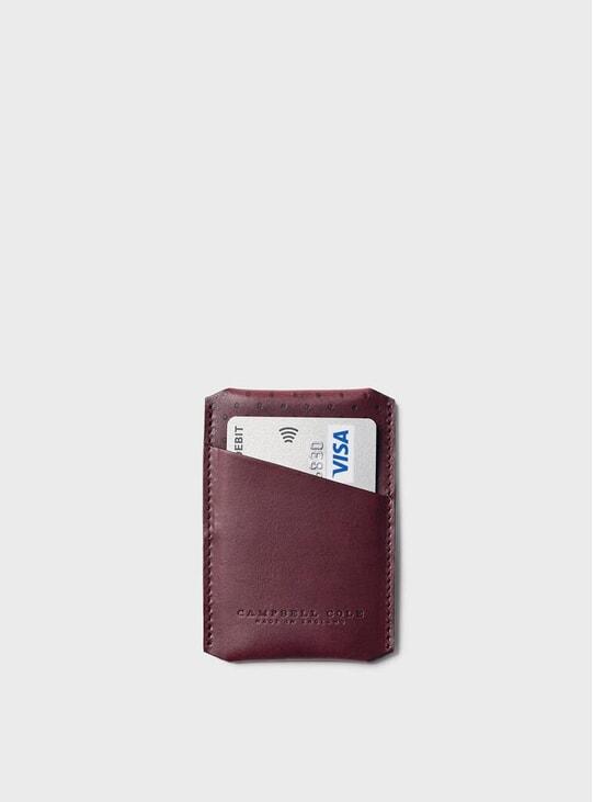Burgundy Simple Card Holder