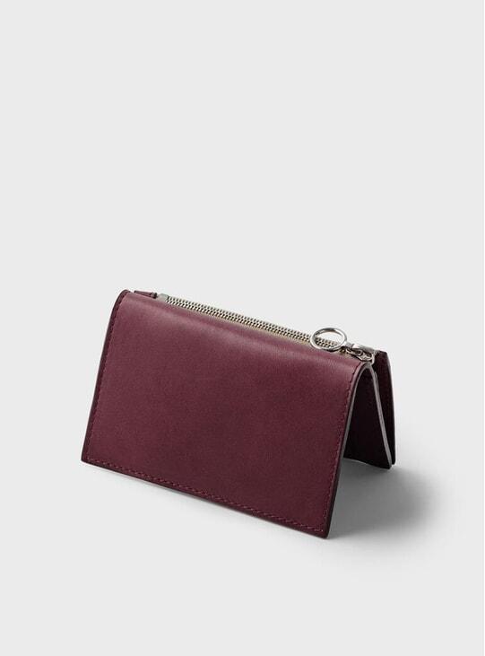 Burgundy Simple Slim Wallet