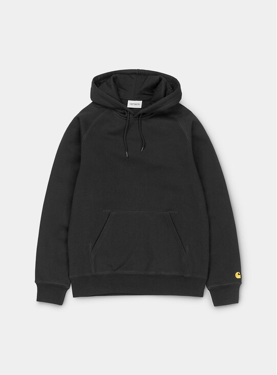 Black / Gold Hooded Chase Hoodie